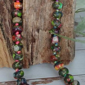 Jewelry - Colorful Deep Sea Sediment Jasper Necklace